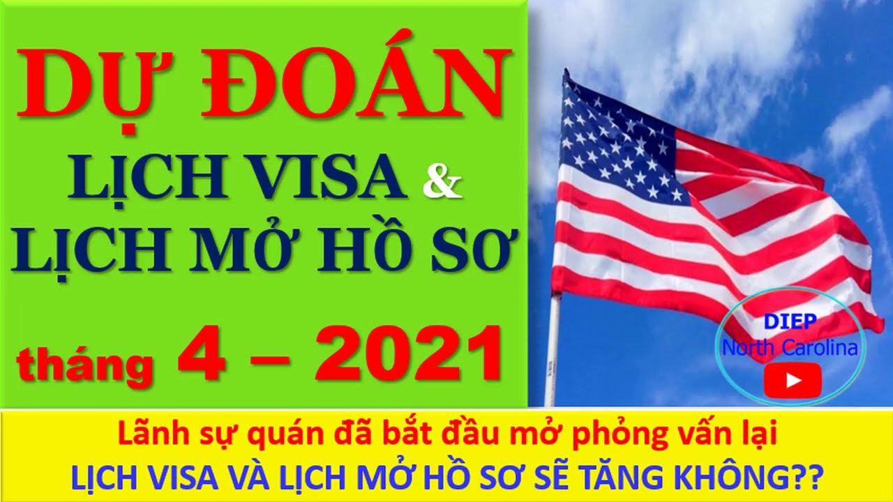 DỰ ĐOÁN -Lịch Visa & Lịch Mở hồ sơ tháng 04-2021 [VISA BULLETIN PREDICTIONS APR 2021]