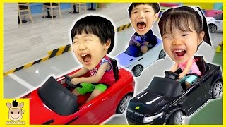 Indoor Playground Fun for Kids and Finger Family Play Slide Car drive Colors Ball | MariAndKids Toys