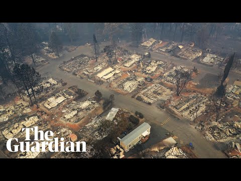 Aerial footage shows aftermath of Californias deadliest wildfire