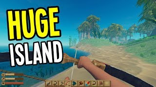 Raft - NEW UPDATE! Exploring a HUGE ISLAND with KILLER BIRD! - Raft Gameplay - Ep. 7