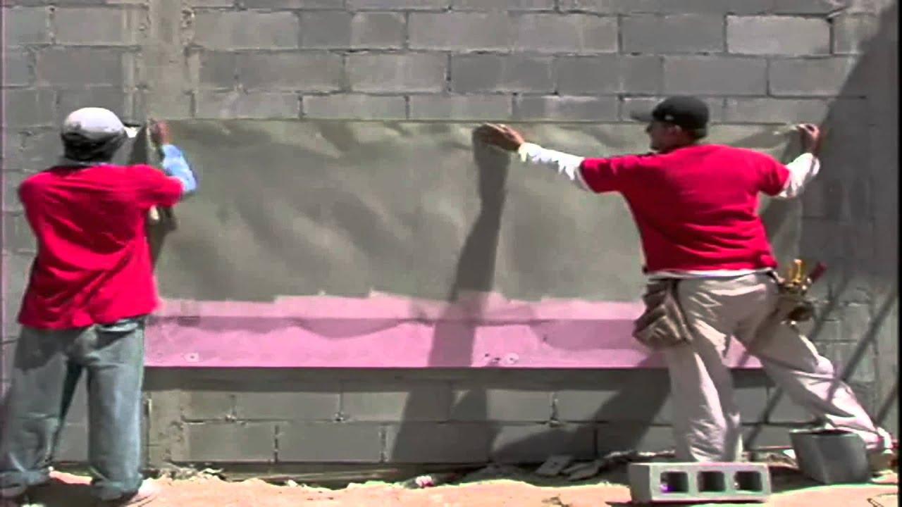Instalación De Aislamiento De Poliestireno Extruido XPS Rígido Owens  Corning Muros Exterior