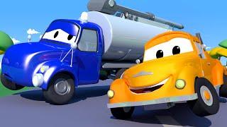 Çekici Tom  - Tanker Tyson'ın Pompası Patlıyor - Araba Şehri 🚚  Çocuklar için çizgi filmler