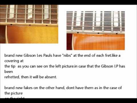 How To Spot a Fake Gibson--- Basics