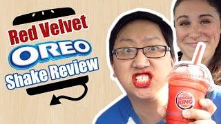 Burger King Bk Red Velvet Oreo Milk Shake Review  |  Hellthyjunkfood