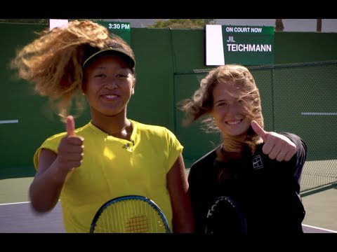 Naomi Osaka learns the Tweener with Daria Kasatkina | Indian Wells 2018