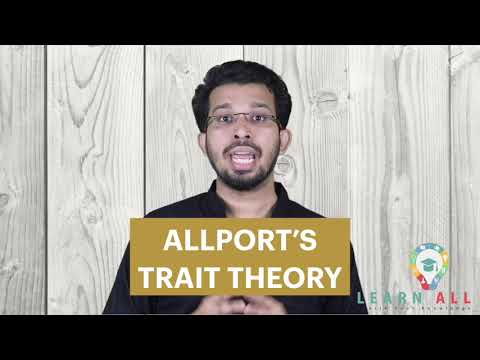 ALLPORT'S  TRAIT THEORY OF PERSONALITY   PSYCHOLOGY