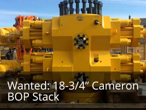 "Selling an 18-3/4"" Cameron BOP Stack? I want to rent your 18-3/4"" Cameron BOP stack."