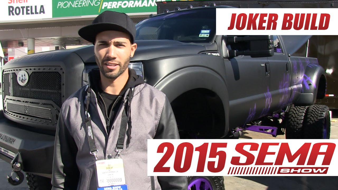 the joker custom truck build at sema show 2015 youtube. Black Bedroom Furniture Sets. Home Design Ideas