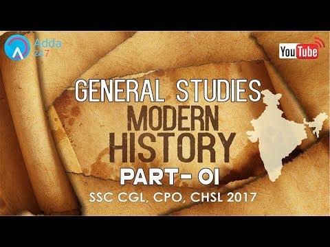 SSC CGL 2017 Preparation | General Studies | Modern History Of India (P1) | Online SSC CGL Coaching