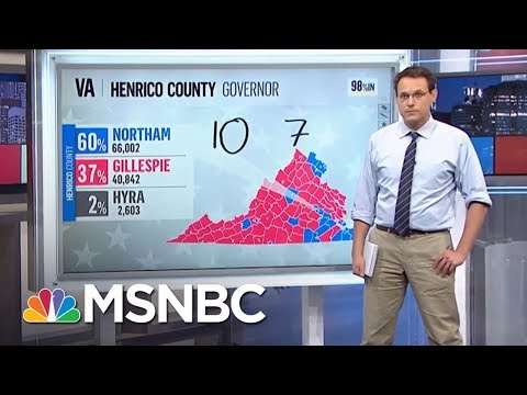 GOP Underperforms Outside Of Donald Trump Base In Virginia Races | Rachel Maddow | MSNBC