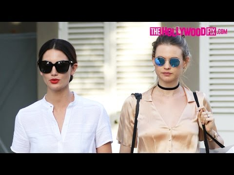 Lily Aldridge & Pregnant Behati Prinsloo Embark On A Melrose Place Shopping Spree 4.5.16