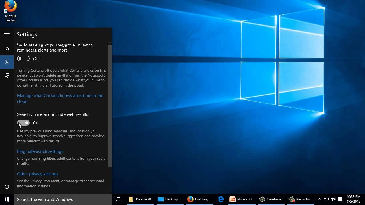 Windows 10 Tip: Disable Online Search In Task Manager
