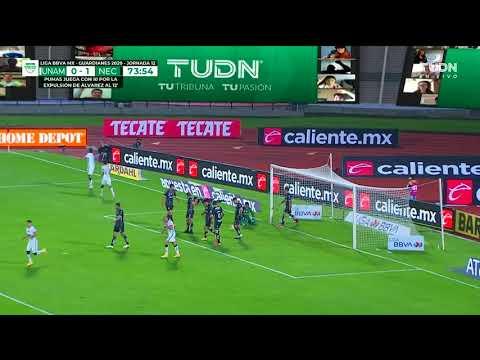Pumas [1] - 1 Necaxa - Juan Dinenno 74'