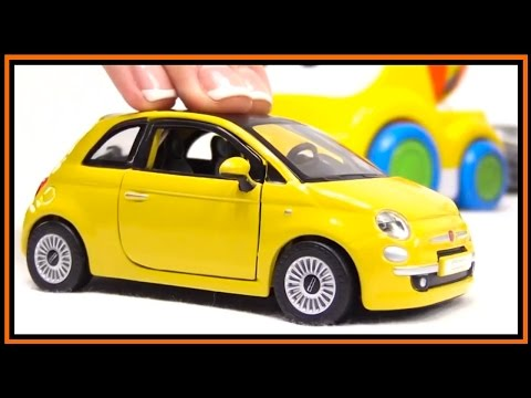 Thumbnail: Toy Car Videos Bburago FIAT 500 Construction Bussy & Speedy.Toy Cars for Children.Stories for Kids!