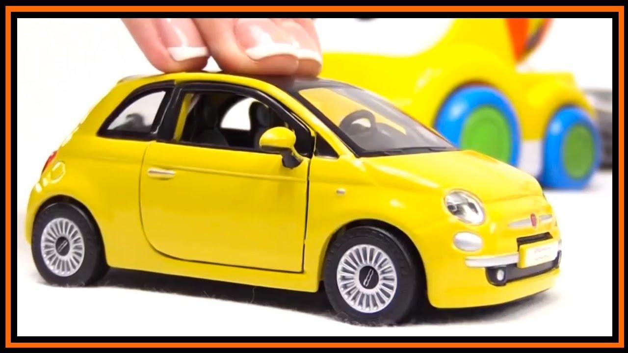 Toy Car Videos Bburago Fiat 500 Construction Bussy Speedy Youtube