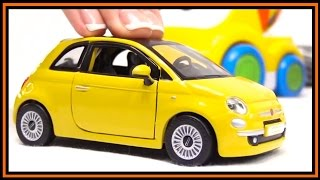 toy car videos bburago fiat 500 construction bussy speedy toy cars for children stories for kids