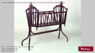 Asian Antique Baby Carriage/crib/cradle Indian & Southeast