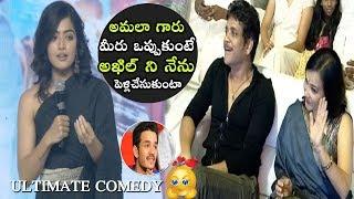 Rashmika Mandanna Shocking Comments On Akhil Akkineni | Devadas Pre Release Event | Telugu Varthalu