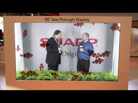 """Sharp 120"""" 8K LCD Display, 90"""" See-Through Display, & Smart Kitchen Appliances - Interview @CES 2020"""