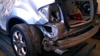 Mercedes ML, ремонт крыла и бампера.