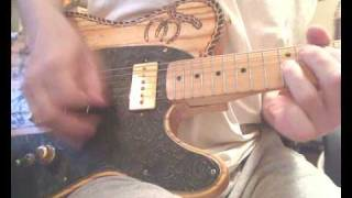 Demo-ing a Custom-Made Telecaster hand-carved western/cowboy theme