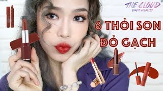 6 LOẠI SON HÀN ĐỎ GẠCH ĐẸP NHẤT 2018 | Best 6 Brick Red Korean Lipsticks