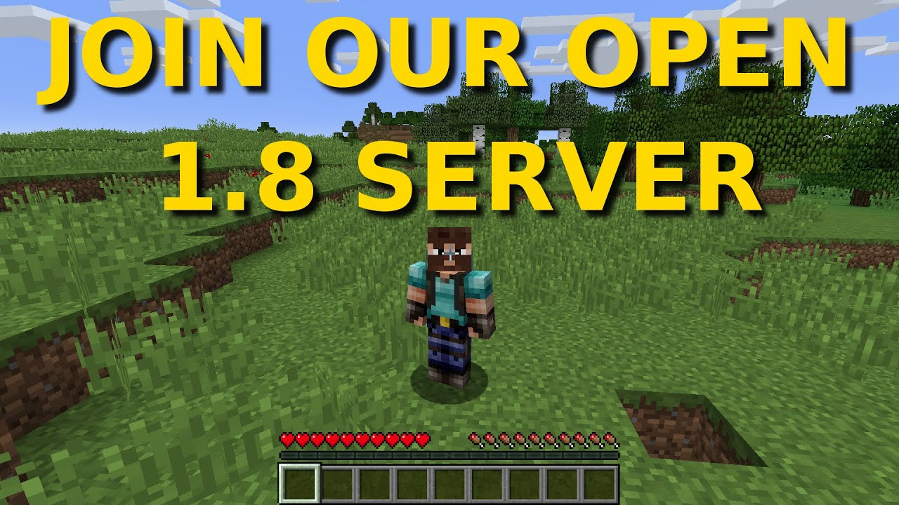 Join Our Open 1 8 Server! (No plugins)