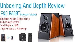 F&D R60BT Bluetooth Speaker Unboxing And Depth Revew & Sound Test