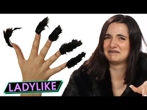 Women Try Faux Fur Nails • Ladylike