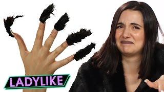 Women Try Faux Fur Nails • Ladylike