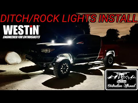 Prepping for more night runs! Westin Automotive ditch and rock lights installation