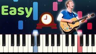 Coldplay - CLOCKS - Easy Slow Piano Tutorial with SHEET MUSIC видео