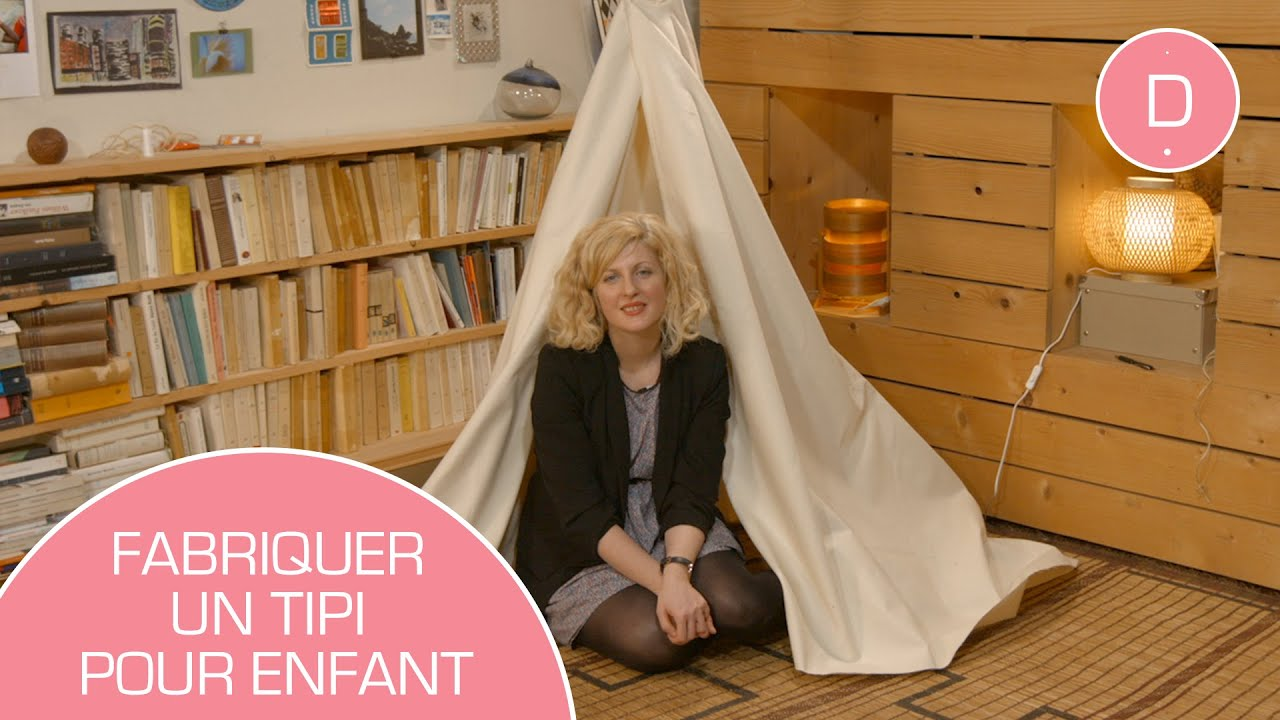 diy fabriquer un tipi youtube. Black Bedroom Furniture Sets. Home Design Ideas