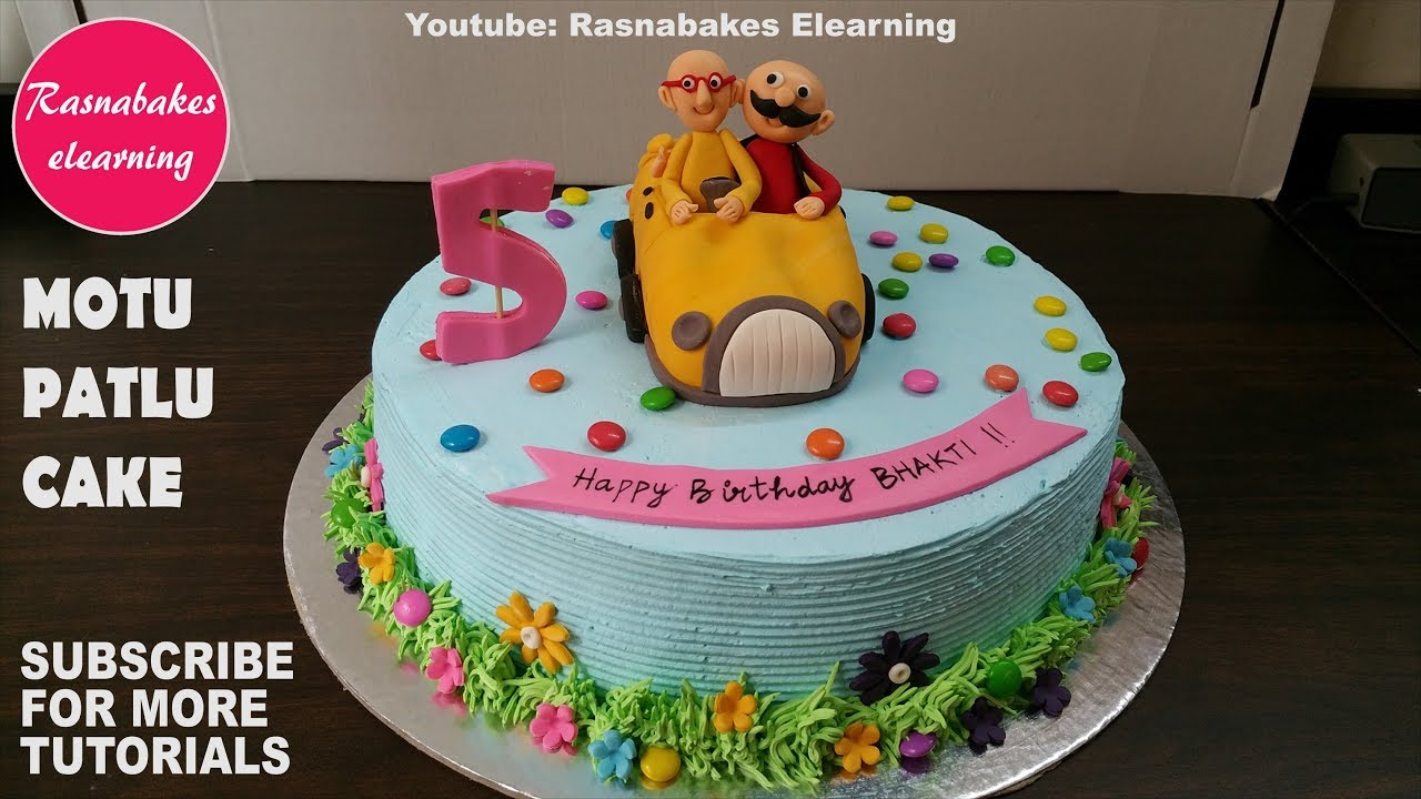 Motu Patlu Car Cartoon Birthday Cakemotu Picture Photo Episode Movie Design Ideas Decorating