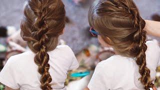 Простая и быстрая прическа для девочек за 5 мин в школу  в садик на каждый день  Коса жгут