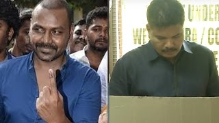 Director Shankar & Lawrence register their votes #TNElections2016