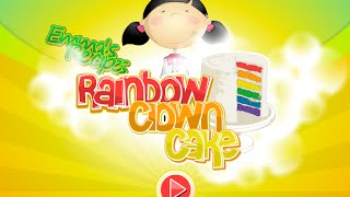 Emma Recipes: Rainbow Clown Cake Full Gameplay Walkthrough