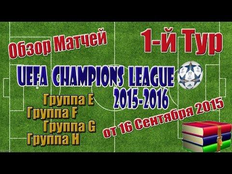 Лига Чемпионов 2015-16 .Групповой этап 1-й тур / 2-й день. Все голы