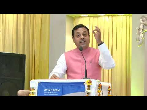 Dr. Sambit Patra addressing Rotary Club - Must Listen Speech