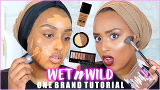 DRUGSTORE ONE BRAND TUTORIAL! | WET N WILD | Aysha Abdul