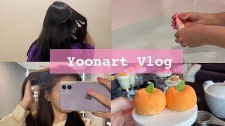 탈색 없이 셀프염색하기 ☺️ Vlog (with ENG…