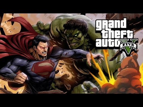 SUPERMAN Vs HULK In GTA 5! Mod Gameplay!