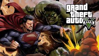 SUPERMAN vs HULK in GTA 5! Mod Gameplay!