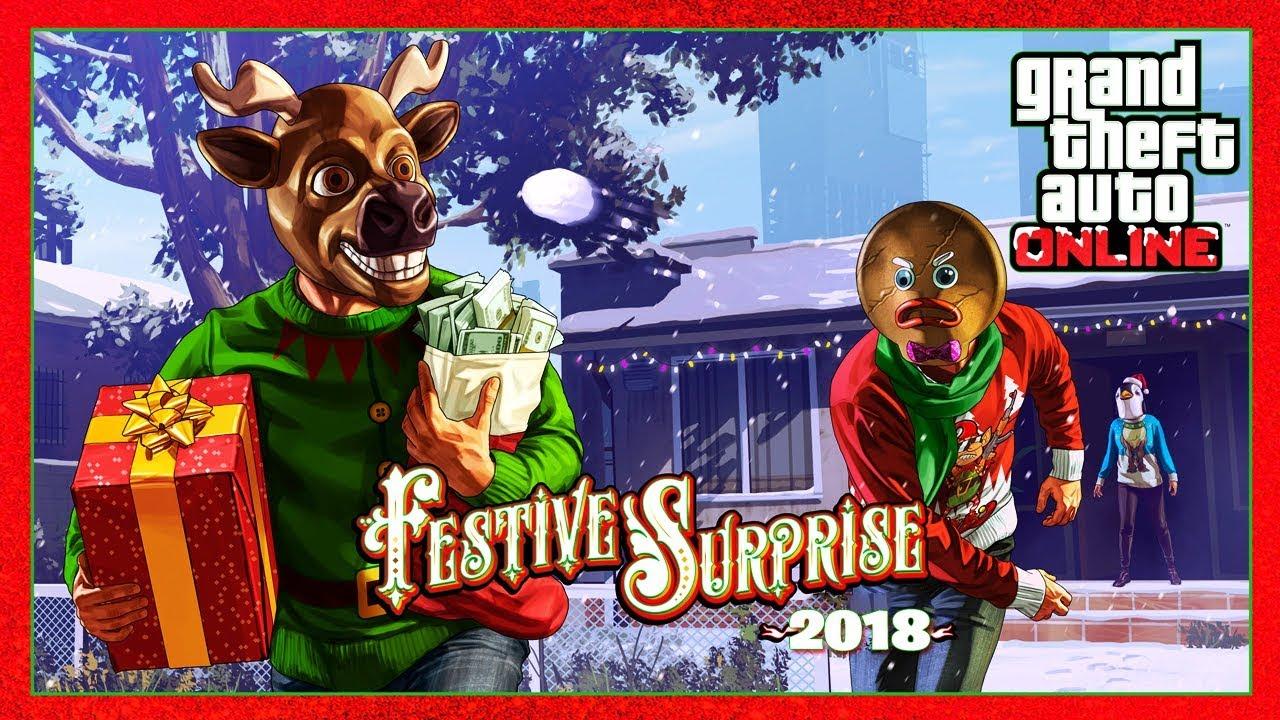 Gta V Christmas Dlc 2019.Gta Online Christmas Dlc 2018 Festive Surprise Update Snow Returning More Gta 5 Online