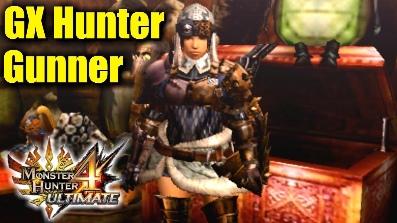 Monster Hunter 4U G Rank Armor Overview: GX Hunter Gunner - YouTube