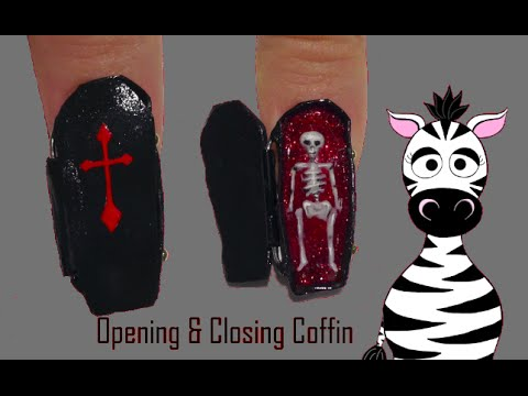 Coffin Acrylic Nail Art Design Tutorial