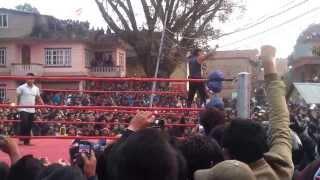 Wrestling on Saturday at Manamaiju, Kathmandu Nepal
