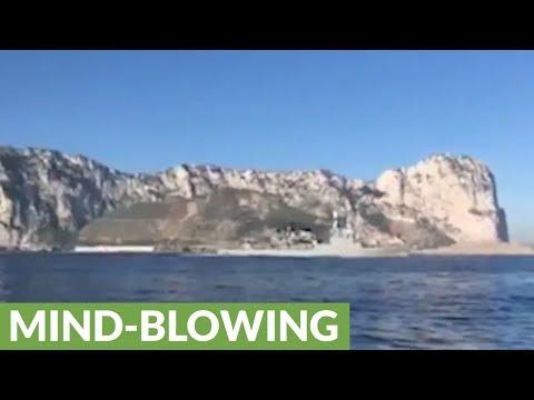 Spanish warship illegally invades British waters while blasting national anthem