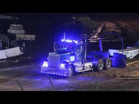 Meyersdale Pa Street Semi & DumpTruck Pulls Drag Racing Somerset County Fair  8-20-17