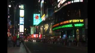 Times Square at Night with Neo Lights and Stores Manhattan Broadway and 7th Avenue New York City NYC